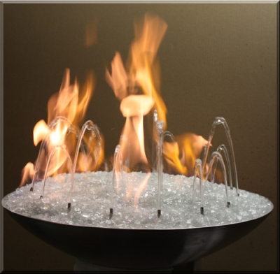 Fire and Water Outdoor Water Fountain