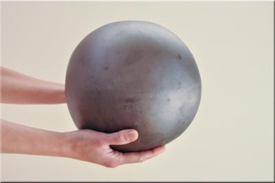 8' silver fire ball